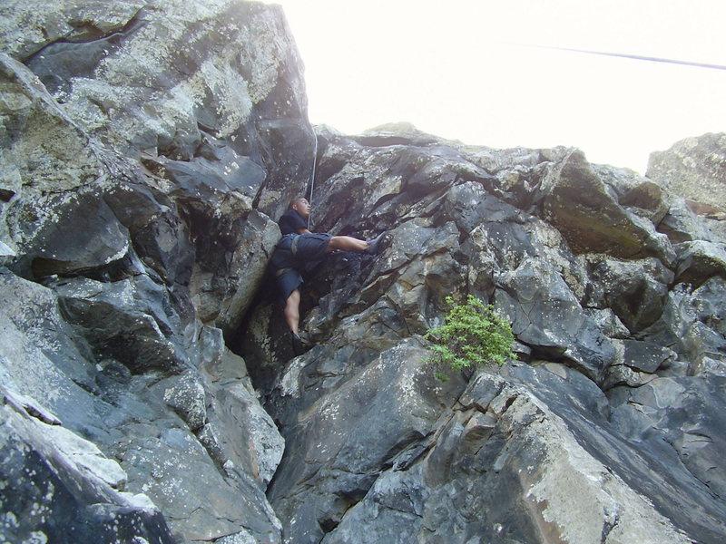 Moving around the roof, fun climb!!!
