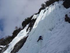 Rock Climbing Photo: On Mindbender (5+), Lake Willoughby, VT