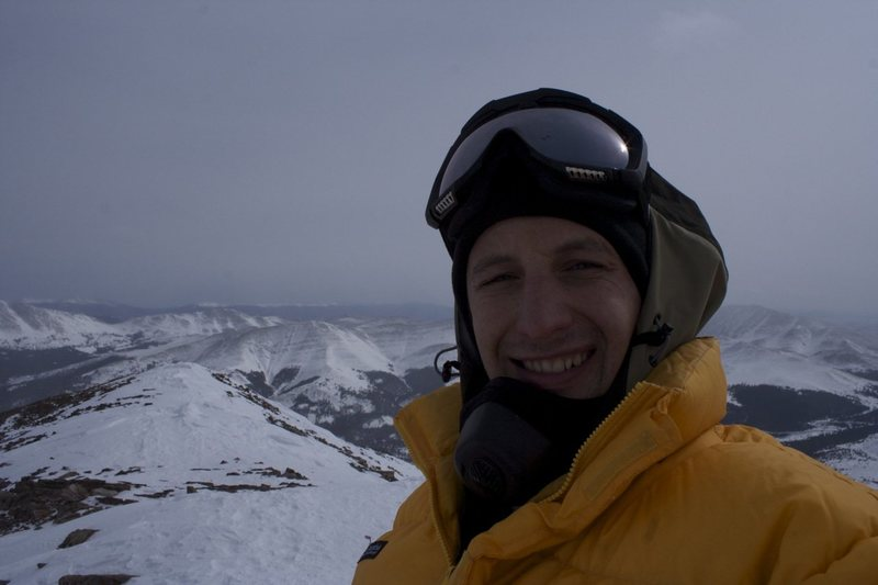 View from the summit of Quandary Peak - February 2011