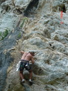 Rock Climbing Photo: Steep start of Roots Rock Reggae