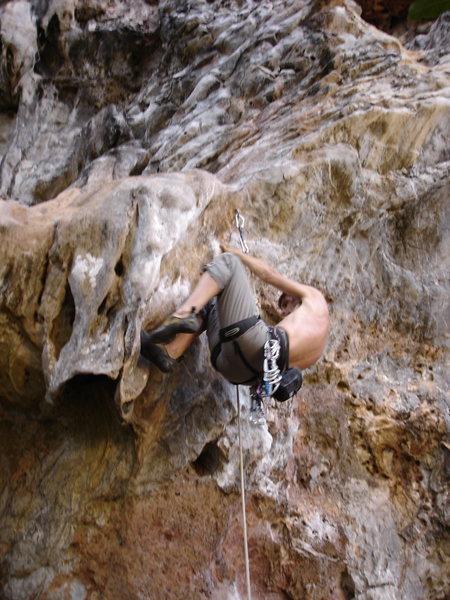 Rock Climbing Photo: Brian Cornwell on the crux!