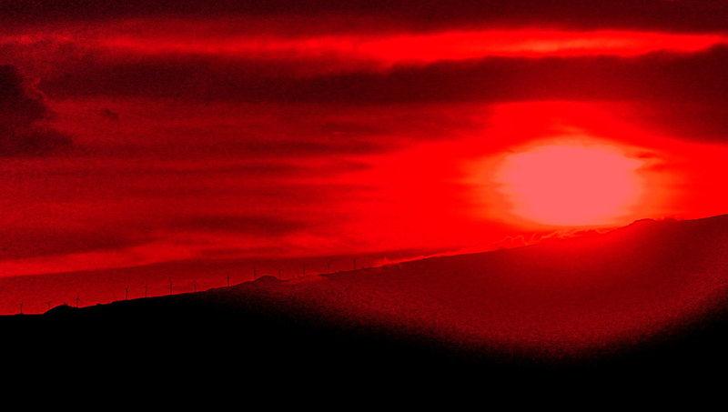 Rock Climbing Photo: sunset 8
