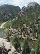 Rock Climbing Photo: Turret Dome and S. Platte, Elevenmile Canyon.