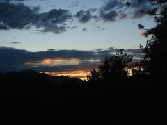 Rock Climbing Photo: Sunset from camp, Elevenmile Canyon.