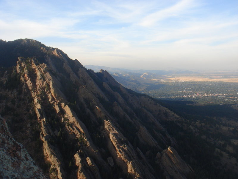 Looking north from Seal Rock, Flat Irons.