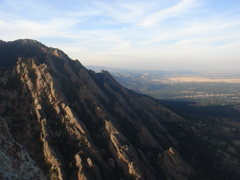 Rock Climbing Photo: Looking north from Seal Rock, Flat Irons.