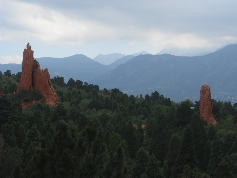 The Three Graces and Pigeon Spire, Garden of the Gods.