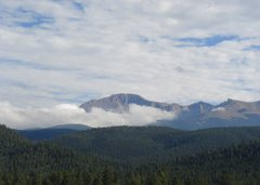 Rock Climbing Photo: Pikes Peak from US Hwy 24.