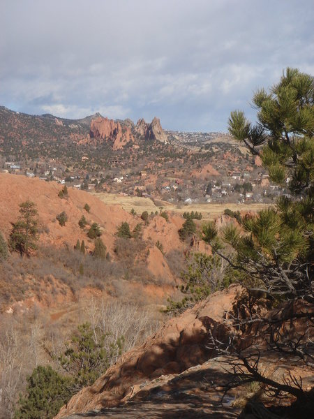Garden of the Gods from Red Rock Canyon.