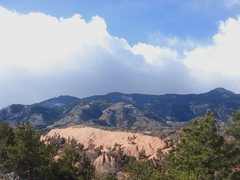Rock Climbing Photo: Clearing storm above the Whale, Red Rock Canyon.