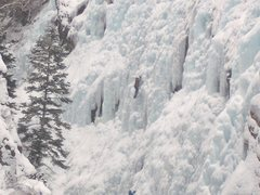 ouray ice festival, first time climbing ice. school room area WI3-4