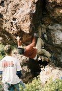 Rock Climbing Photo: Scott Roberts finishing up the steep part of Sofa ...
