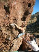 Rock Climbing Photo: Bob Broilo crushing Heart Shaped Box.