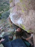 Rock Climbing Photo: Scott Roberts on Terrapin Station at Alf's Rig.