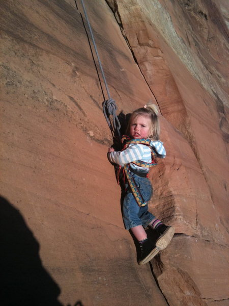 Selah, 22 months, at Colorado National Monument