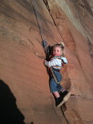Rock Climbing Photo: Selah, 22 months, at Colorado National Monument
