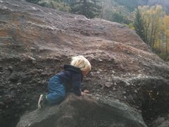 Rock Climbing Photo: Selah, 18 months, in Redstone