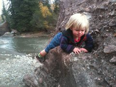 Rock Climbing Photo: Selah, 18 months, in Redstone