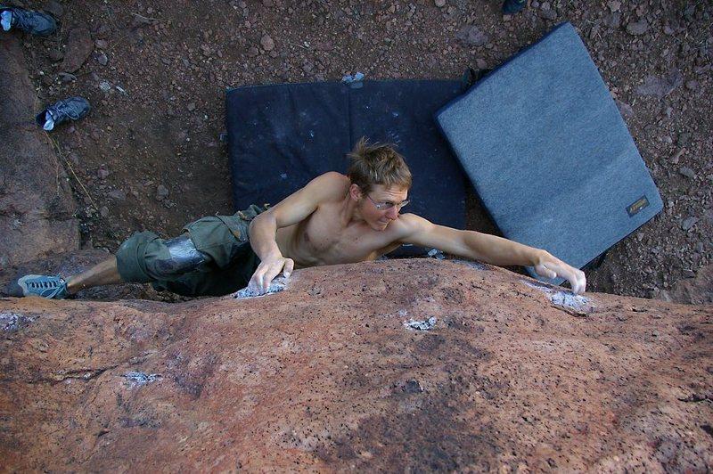 Rock Climbing Photo: Collin C. on Heavy Metal. (photo: bob broilo)