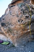 Rock Climbing Photo: Sabres of Paradise Right Topo