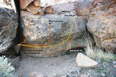 Rock Climbing Photo: Sabres of Paradise Far Right Topo