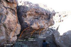 Rock Climbing Photo: Hand to Hand Combat Wall Topo