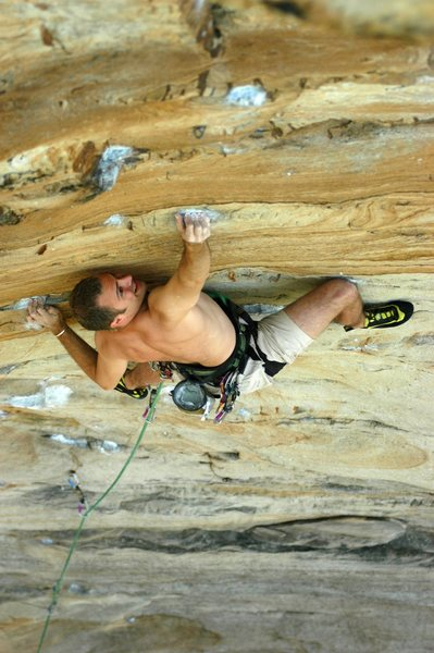 Rock Climbing Photo: Dial 911. New River Gorge, WV. PHOTO: Jeff Gardner
