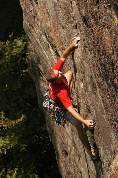 Rock Climbing Photo: Party in My Mind, New River Gorge, WV. PHOTO: Matt...