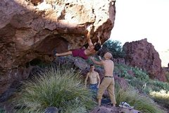 Rock Climbing Photo: climber topping out Chewbacca. (photo: bob broilo)
