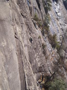 Rock Climbing Photo: Jp finishing up the 8+ R section with Elena belayi...