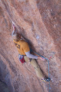 Rock Climbing Photo: DTP using the undercling that broke to gain the si...