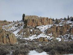 Rock Climbing Photo: The Tom Sawyer Wall from afar.