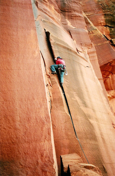 "Rock Climbing Photo: D Snyder on ""Batteries not included""."