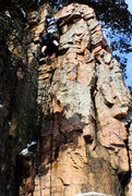 Rock Climbing Photo: Mikey D on the FA