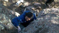 Rock Climbing Photo: Josh Hesch commanding V.