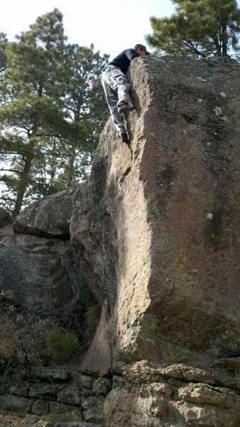 Rock Climbing Photo: Rob Hilko on the 5th go. Stealing some thunder, wh...