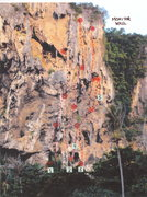 Rock Climbing Photo: Here are the routes on THE MONITOR WALL. Note that...