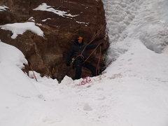 Rock Climbing Photo: Belay complications.