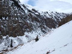Rock Climbing Photo: Eureka cragside: 1st, 2nd, and Goldrush.