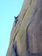 Rock Climbing Photo: Midway on the 1st pitch
