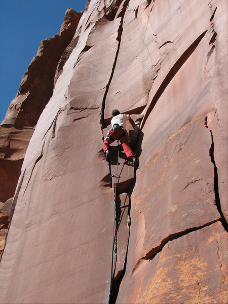 "Rock Climbing Photo: Darren Knezek on ""Walkin' Talkin' Bob""."