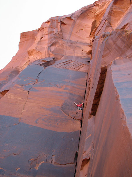 "Rock Climbing Photo: Darren Knezek on ""Comfortably Numb""."
