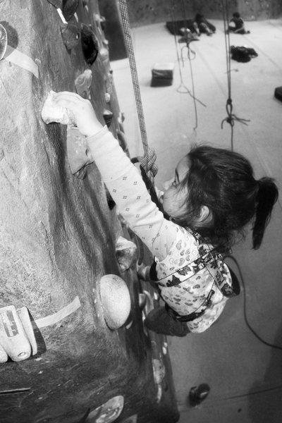 Rock Climbing Photo: Annabelle climbing