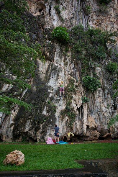 Rock Climbing Photo: Anja leading Granular Spindrift