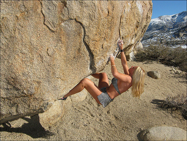 "Rock Climbing Photo: Jona Price playing on ""Pope's Roof"". Pho..."