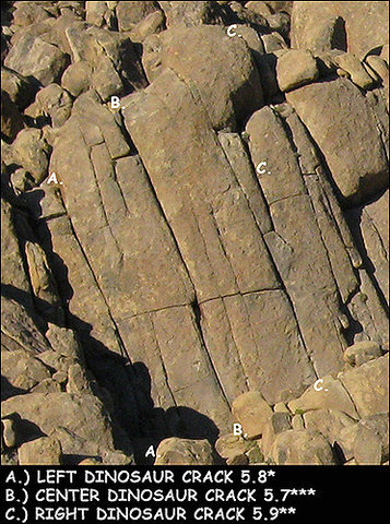 Rock Climbing Photo: Dinosaur Cracks. Photo by Blitzo.
