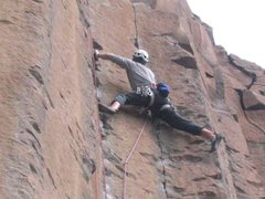Rock Climbing Photo: Nearing the top of Red M&Ms on gear.  One preview ...