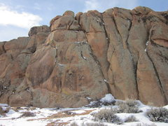 Rock Climbing Photo: Baby's Got Crack starts in the right side of the c...