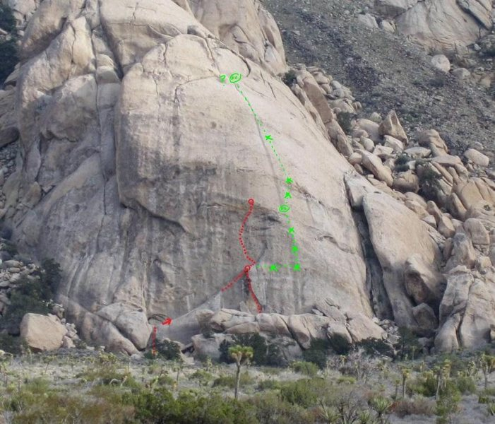 Mystery route to right of pitch 2 Harlequin and Harley Queen. . . Anybody know what it is?