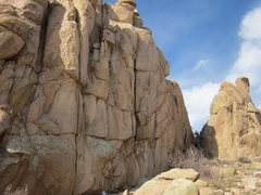 Rock Climbing Photo: Best Crack climbs up the obvious splitter in the m...